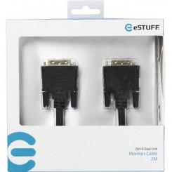 eSTUFF Monitor Cable DVI-D Dual Link 2M