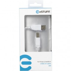 eSTUFF USB A-B cable for Printer & Harddrive 3M