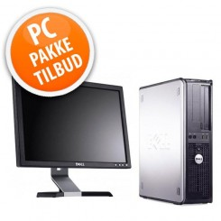 """Dell Optiplex 780 inkl. 17"""" TFT, tastatur og mus."""