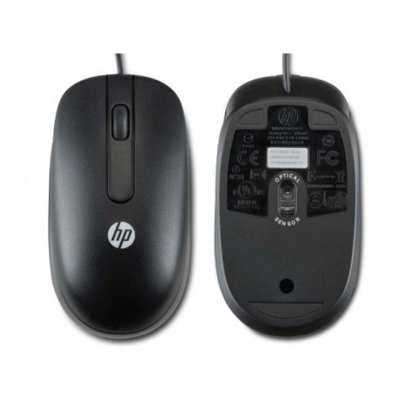 HP 3-knap kablet USB Optical Mouse - Sort