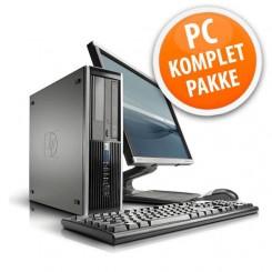 """HP Compaq 8300 Elite - Komplet PC sæt inkl. 23"""" TFT, tastatur og mus."""