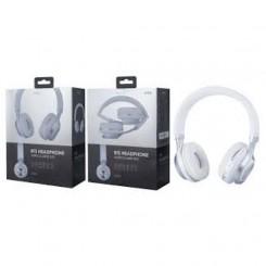MTK Bluetooth headset med mikrofon - Hvid & Sølv