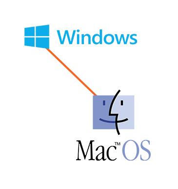 Både salg af Mac OS X og Windows computere